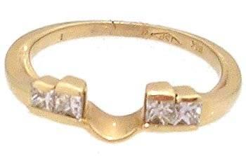 14KY 1/3ct Diamond princess wrap ring