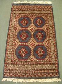 3401: New Pak Uzbek Bokara Rug 5x3