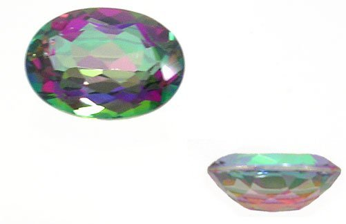 1626: 21+ct Mystic Topaz loose Oval Checkerboard 20x15m