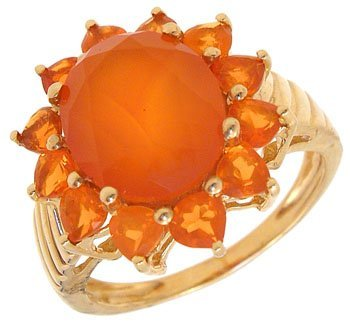 904: 14KY 7cttw Mexican Fire Opal ring