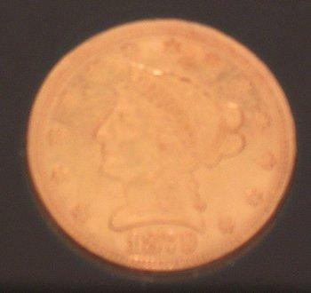 919: US Gold 1879-S AU $2 1/2 Liberty Head Coin