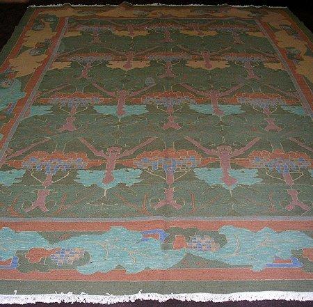 3602: Grand Persian Uzbek Soumak Carpet 14x10