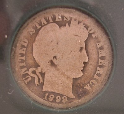 8213: Silver 1898-O AG Barber Dime Coin