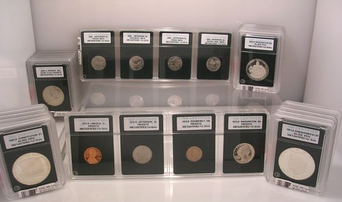8219: INB Certified Coin Lot of 30 Mint State Proof Coi