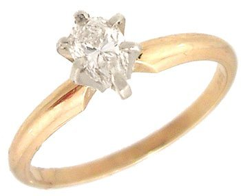 8368: 14KY .32ct Pear Cut Solitare Engagement Ring