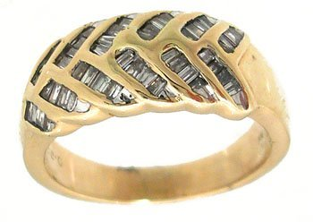 801: 14KY .50cttw Diamond bagg channel band ring