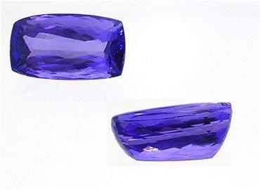 898: 6.90ct AAA NEON Tanzanite cush 9.3x13.6mm APP$ 828