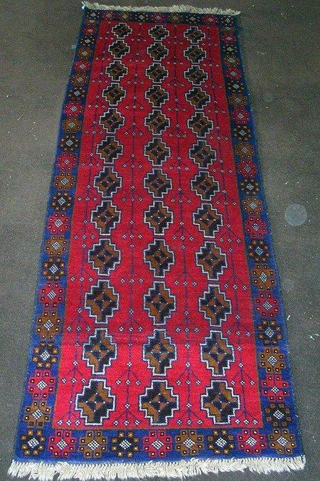 11002: Amazing Afghan Herati Runner Rug 8x3