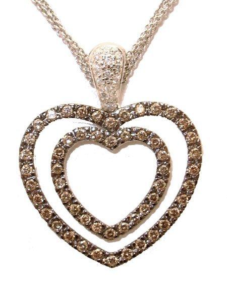 3110: 14KW 1.35cttw Fancy Brown Diamonds Heart Design N