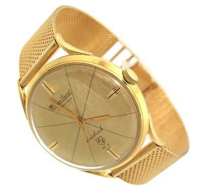3213: 18KY Gents Vintage Lucien Piccard AutoWind Watch