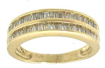3: 14KY 1.16cttw Diamond Bagg Double Row Band Ring