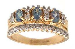 1956: 14KY 1.25cttw Alexandrite Oval Diamond Band Ring