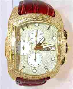 Aqua Master .75ct Diamond brown watch