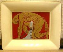 1299A: Erte Bone China Samson & Delilah Dish