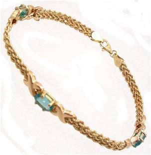 10KY 2.50cttw Apatite X Link Bracelet