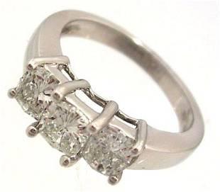 14KW 1.12cttw Diamond Princess PPF Style Ring