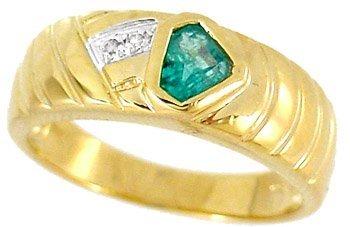 3018: .50ct Columbian Emerald trillion Diaring