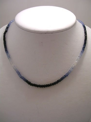 828: 60ct Sapphire Single Strand Beaded Necklace