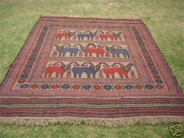 898: S.Antique Persian Gul-e-Barjista Rug 8 x 6
