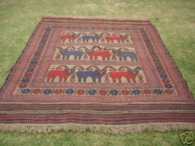 898: S.Antique Persian Gul-e-Barjista Rug 8 x 6
