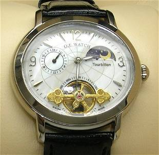 OE Moonphase SEXY Watch White Oval (red Heads)
