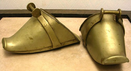 1123: Pair of Brass Saddle Shoes