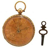 1186: 18KY Chain Fusee Massey 3 Pocket Watch c.1860