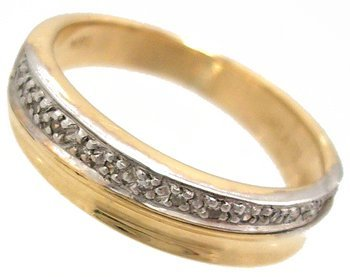 1301: 18KY .13cttw Diamond Band Ring