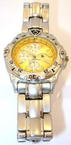 1316: SS Sports Ostrock Polo Orange MensChrono Watch