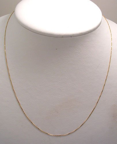 10040: 14KY Box Link Necklace 1.9gram 18inch
