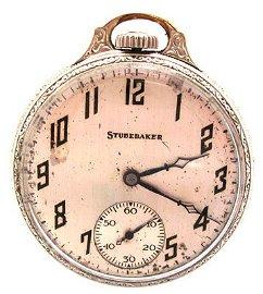 1915: GFilled 21J Southbend Studebaker Pocket Watch c.1