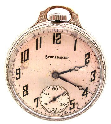 1915: GFilled 21J Southbend Studebaker Pocket Watch c.1