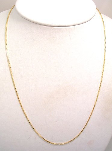 10032: 14KY Mirror Box Link Chain 4.8gram 1.09mm 20inch