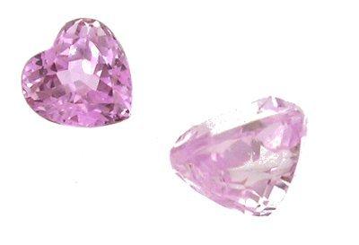 1307: 3.55Ct. Kunzite Heart Cut Loose Stone 9x8mm
