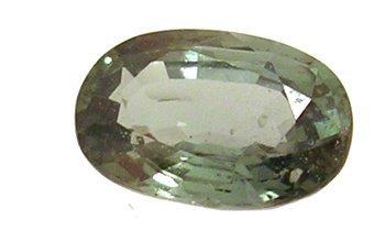 1827: 1.98ct Ceylon Green Sapphire oval 5.92x8.99m loo