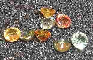 3ct Mix Sapphire 4+m Round Parcel 8 piece