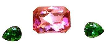 2116: 1.10cttw Pink Tourmaline E-cut Tsav Garnet Pear S