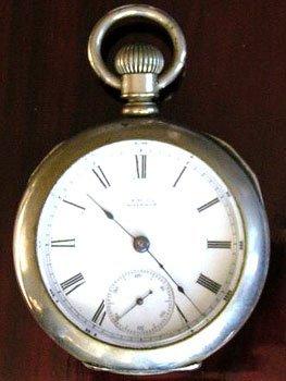 2120: Silverine 11J Elgin 18S Pocket Watch c.1875
