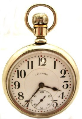 2121: 21J Illinois 16S Bunn Railroad Pocket Watch c.192