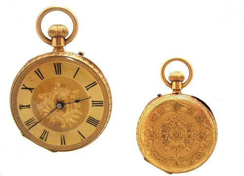 2122: 18KY Solid J Sewill English Pocket Watch 40gm 189