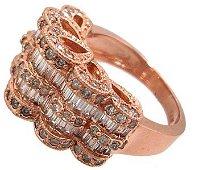 1446: 14KR 2.80ct Diamond Bagguette Round Ring $APP 508