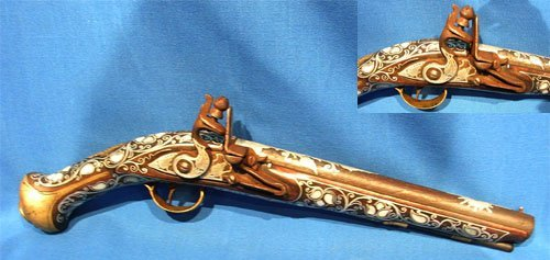 1924B: French Trading Pistol circa 1740-1750