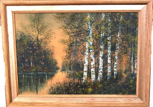 1924G: Watercolor and Pastel by listed artist R. Sensen