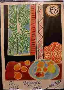 Henri Matisse Travel Poster circa 1948