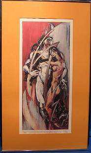 Signed Lithograph by listed artist Miriam Sowers
