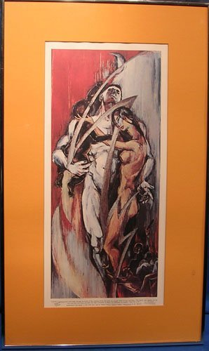 21007: Signed Lithograph by listed artist Miriam Sowers