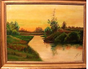 Oil on Canvas by reconized artist Edward Duffner