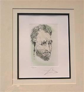 Van Gogh by Salvador Dali Original Signed Etchin