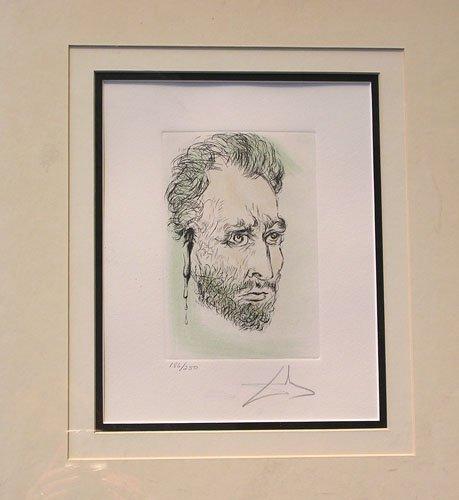 2166B: Van Gogh by Salvador Dali Original Signed Etchin