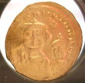 2224G: 22KY Solidus Byzantine HeracliusGold Coin 610AD